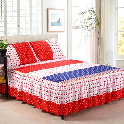 植物羊绒双层单件床裙 枕套一对 星月光年