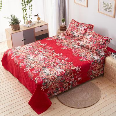 单品床单 枕套48*74cm/对 国色牡丹