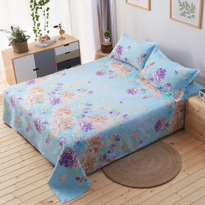 单品床单 枕套48*74cm/对 妩媚花王--蓝