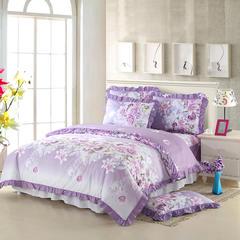 韩版全棉三件套床罩款 被套160*210 床罩120*200 爱的花海