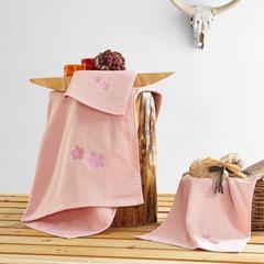 毛巾套巾 套巾系列 贴布绣(套巾57元) 70*140 粉色