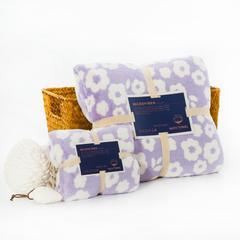 毛巾套巾 套巾系列 纳米印花(套巾38元) 紫色花朵