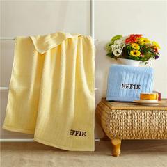 毛巾套巾 套巾系列 埃菲套巾(套巾30元) 黄色