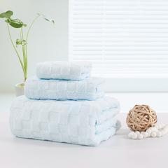 毛巾套巾 套巾系列 日系风套巾(套巾42元) 蓝色