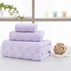 毛巾套巾 套巾系列 日系风套巾(套巾42元) 紫色(70*140)
