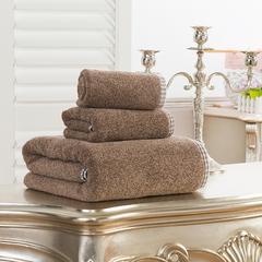 毛巾套巾 套巾系列 岛国风情套巾(套巾107元) 咖啡色