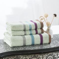 毛巾套巾 套巾系列 渐变素缎套巾(套巾44元) 浅绿(70*140)