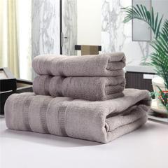 毛巾套巾 套巾系列 墨竹套巾(套巾44元) 灰色(34*76)