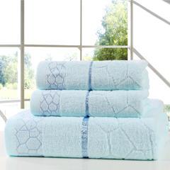 毛巾套巾 套巾系列 水立方套巾(套巾29元) 蓝色