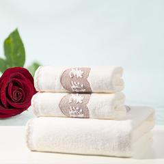 毛巾套巾 套巾系列 老公老婆套巾(套巾84元) 老婆米白