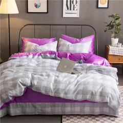 棉加绒四件套 被套160X210,床单180X230,枕套48X74X1 锦尚-紫