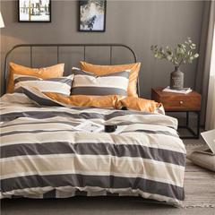 棉加绒四件套 被套200X230,床单250X250,枕套48X74X2 青春如歌