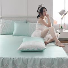 首尔爆款床裙款冰丝软席空调席凉席纯色 120*200 清新绿
