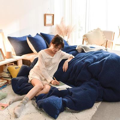 (总)首尔家纺 羊羔绒轻奢款四件套 法莱绒牛奶绒水晶绒四件套 1.5m床单款四件套 羊羔绒轻奢款-拉普兰