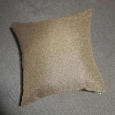 2020新款-純色純色加厚棉麻靠墊抱枕(1) 35*55含芯 奶咖