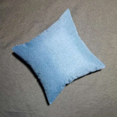 2020新款-純色純色加厚棉麻靠墊抱枕(1) 35*55含芯 天際藍