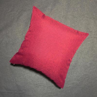 2020新款-純色純色加厚棉麻靠墊抱枕(1) 35*55含芯 朱砂紅