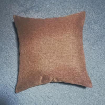 2020新款-純色純色加厚棉麻靠墊抱枕(1) 35*55含芯 棕