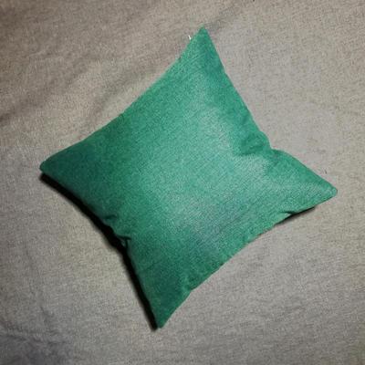 2020新款-純色純色加厚棉麻靠墊抱枕(2) 55*55含芯 孔雀綠