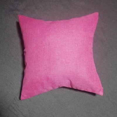 2020新款-純色純色加厚棉麻靠墊抱枕(2) 55*55含芯 玫紅
