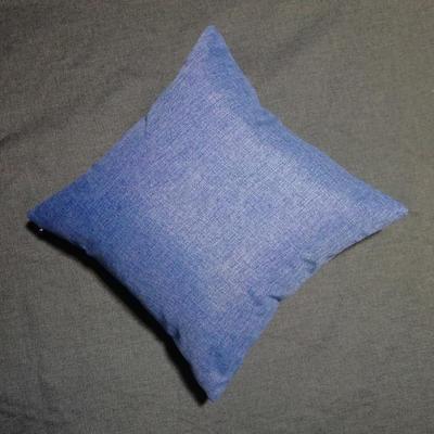 2020新款-純色純色加厚棉麻靠墊抱枕(2) 55*55含芯 牛仔藍