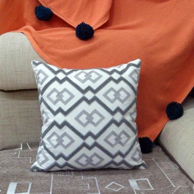 2020新品-復合毛巾繡抱枕靠墊 45*45cm不含芯 維納斯-灰