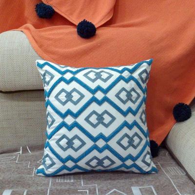 2020新品-復合毛巾繡抱枕靠墊 45*45cm不含芯 維納斯-藍