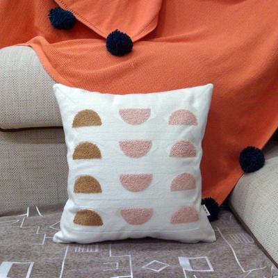 2020新品-復合毛巾繡抱枕靠墊 45*45cm不含芯 十二星宮
