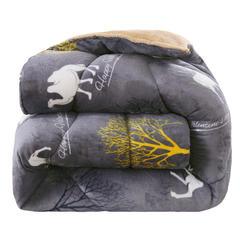 2018爆款羊羔绒+法莱绒冬被被子被芯 150x200cm/5斤 骆驼祥子