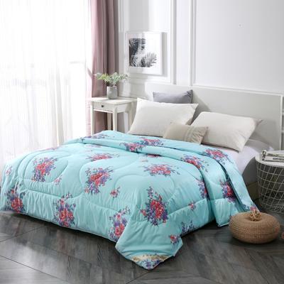 2020新款牡丹花丝绸印花蚕丝被春秋被夏被冬被 150x200cm4斤 国色天香-兰