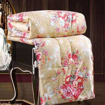 2020新款牡丹花丝绸印花蚕丝被春秋被夏被冬被 150x200cm4斤 国色天香-金