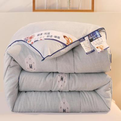 2020新款羽丝棉印花冬被被子被芯 150x200cm(4斤) 塞西尔