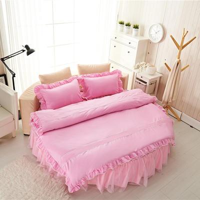 圆床系列-床笠款/床裙款四件套 被套(200*230cm) 粉红