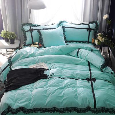 韩版水晶绒--遇见 2.0m(6.6英尺)床 天蓝