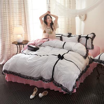 水晶绒—遇见(模特图) 2.0m(6.6英尺)床 遇见--粉白