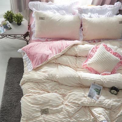 兔兔绒压条+水晶绒压条四件套-场景1 1.5m(5英尺)床 抱枕40*40/只