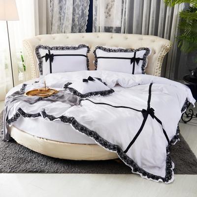 2019新款遇见圆床系列--床笠款 直径2米四件套 遇见--白色