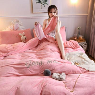 2019新款亲肤保暖宝宝绒水晶绒牛奶绒(迷你兔)四件套 1.2m床单款三件套 迷你兔-玉色