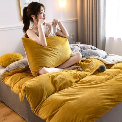 2019新款親膚保暖寶寶絨水晶絨牛奶絨系列(總) 1.2m床單款三件套 迷你兔-姜黃