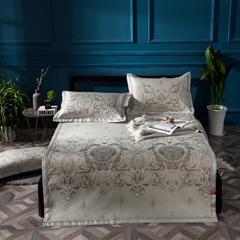 凉席系列 可水洗床席系列 150*198CM(三件套) 瑞丽莎-银