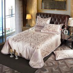 凉席系列 可水洗床单系列 250*250cm(三件套) 梅莎-酒红