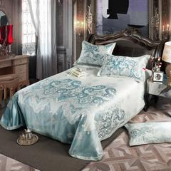 凉席系列 可水洗床单系列 250*250cm(三件套) 爱丽丝-藏青