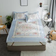 安睡宝  900D数码印花床席 180*200cm 波斯风情-蓝色