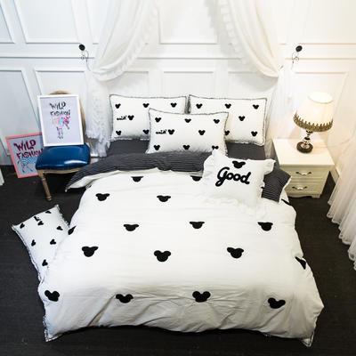 爱丽家纺 2018年新款水洗棉毛巾绣套件 方枕含芯/个 米奇