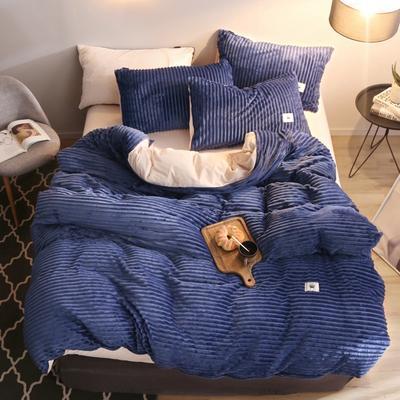 2019新款爱丽家纺魔法绒四件套 1.8m(6英尺)床 宝蓝色