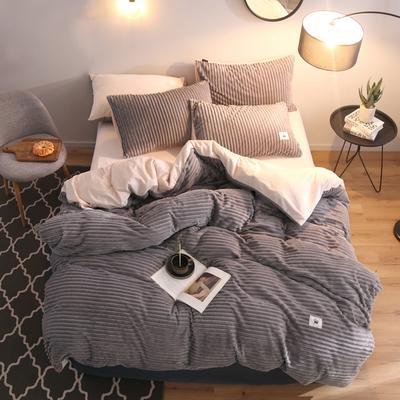 2019新款爱丽家纺魔法绒四件套 1.8m(6英尺)床 深灰色