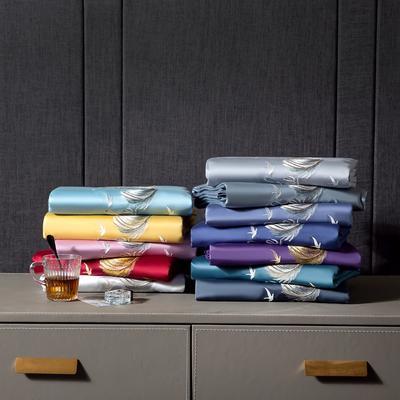 2020新款60s纯棉纯色刺绣单被套 180x220cm 13-组合
