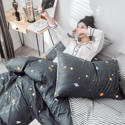 2019新款-网红爆款INS简约小清新全棉四件套 床笠款1.8m(6英尺)床 浪漫星球