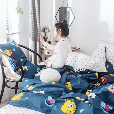 2019新款-网红爆款INS简约小清新全棉四件套 床笠款1.8m(6英尺)床 闹腾