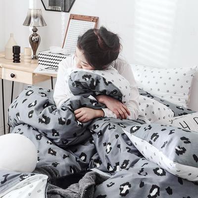 2019新款-网红爆款INS简约小清新全棉四件套 床笠款1.8m(6英尺)床 时尚豹纹